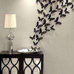 #Borboletas adesivas. Ideia simples com um efeito encantador! #charmoso #decoração #adesivo