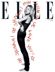 Elle UK, Sienna Miller- awesome depiction of person. Editorial Layout, Editorial Design, Editorial Fashion, Sienna Miller, Layout Inspiration, Graphic Design Inspiration, Design Ideas, Book Design, Layout Design