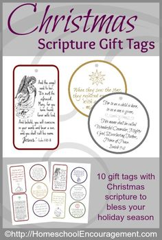 Let your kids help cut and mount these on card stock! | Gift tags with Bible verses to bless your friends and family - Christmas Scripture Gift Tags - printable gift tags that keep the Christ in Christmas!