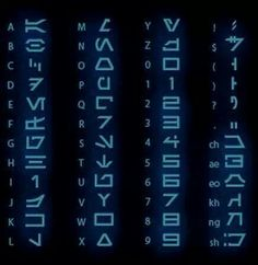 Star wars letters & numbers translated