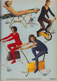 Thank you to whoever invented yoga pants, so we're no longer expected to wear freaking tights and leotards to work out. Vintage Advertisements, Vintage Ads, 70s Fashion, Vintage Fashion, Gym Frases, No Equipment Workout, Fitness Equipment, Academia, Leotards