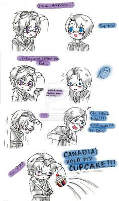 Moments With Canadia: England Says You're Fat o3o by Ask-MatthewWilliams.deviantart.com on @deviantART