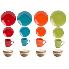 Found it at AllModern - Rio Assorted 16 Piece Dinnerware Set