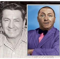 CURLY HOWARD ~ MY FAV STOOGE ~ WITH & WITHOUT HAIR. LUV U CURLY!!!