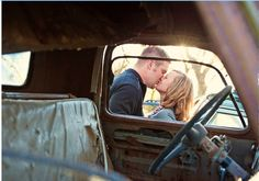 engagement pictures... with his truck :)