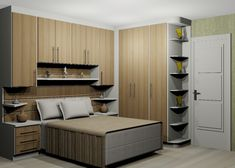 Trendy bedroom storage built in cabinets 24 Ideas Bedroom Built Ins, Small Master Bedroom, Bedroom Storage, Wardrobe Storage, Bedroom Wallpaper City, Home Decor Bedroom, Bedroom Furniture, Ikea Built In, Bedroom Cupboards