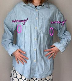 How to refit a button down shirt to your size.