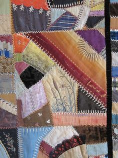 antique crazy quilt closeup3