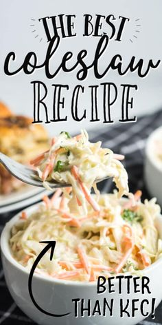 When you have coleslaw as the side dish, everything just tastes better. This creamy, classic coleslaw with mayo and vinegar dressing is one of our favorites. Classic Coleslaw Recipe, Coleslaw Recipe Easy, Vegetarian Recipes, Cooking Recipes, Healthy Recipes, Crockpot Recipes, Easy Recipes, Dinner Crockpot, Rice Recipes