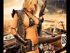 Girls, Guns, & Gold::: sexy girls hot babes with guns beautiful women weapons Lowrider, Cuir Center, Brazilian Style, Hot Girls, Pin Up, Lord, Big Guns, Bodies, Sexy Women