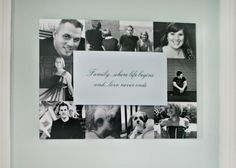 Dimensional wall art is a great way to showcase your favorite family photographs and a quote, verse or saying that is meaningful in your home! #SFLYDecor