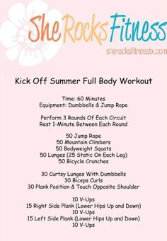 Summer full body workout More Fit Workout, Rocks Fit, Body Rocks Workout, Workout Shelia, Summer Full, Full Body Workout, Rocks Exerci, Shelia Rocks, Fitfluenti Workout She Rocks Fitness workout @fitfluential #workout Round-Up...So many good ones! Kick Off Summer Full Body Workout @Shelia Rocks Fitness #fitfluential