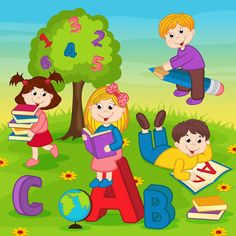 "Photo from album ""Детские"" on Yandex. Kids Wall Decals, Art Wall Kids, Art For Kids, Tiger Crafts, Bird Crafts, Preschool Room Decor, School Board Decoration, School Border, Welcome To School"