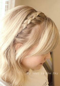 braid headband with bangs