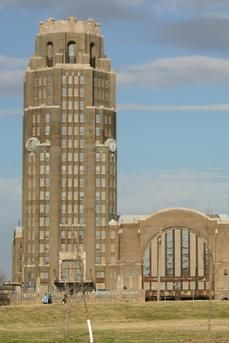 Buffalo Central Terminal - Memorial Drive at Paderewski, Buffalo, NY. This art deco building opened in 1929 and operated until 1979. It has long been an important feature of the Buffalo skyline.