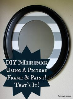 DIY Mirror Using A Picture Frame & Paint - Looking Glass Spray - www.turnstylevogue