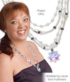 A ''OOAK'' Style: Multi-Strand Necklace Featuring Swarovski's Artemis beads and Snowflake Focal Pendant