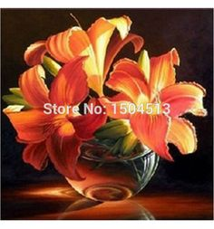 Golden Lily diy diamond embroidery flowers full and square diamond mosaic painting for decor 3d crystal cross stitch needlework patio <3 AliExpress Affiliate's Pin. Locate the offer simply by clicking the image