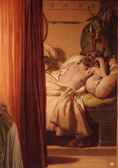 Agamemnon. Detail. Clytemnestra and Agamemnon. 1822. oil on canvas. Pierre Narcisse Guerin. French. 1774-1833.