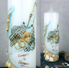 Hochzeitskerze Meer DW 395  Dekor - Kunsthandwerk  von  Kerzenkunst -  Kreatiwita auf DaWanda.com
