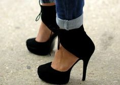 HAUTE SHOES ANKLE HIGH HEEL BOOT Black 453 |Shoe |7showing
