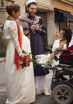 South African Gay Muslim Imam Marries Disabled Lesbian Iranian Pregnant Couple in Sweden-so they can get residency
