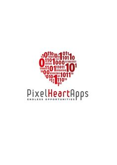 Pixel Heart Apps Logo - For all those who love the web and the endless opportunities it offers by Mihai Basoiu