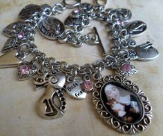 St. Gertrude of Nivelles Charm Bracelet  Patron by MarysPrayers, $40.00 - for the crazy cat lady in us all Crazy Cat Lady, Crazy Cats, Patron Saint Of Cats, Animal Projects, Patron Saints, Cat Art, Arts And Crafts, Creatures, Kitty