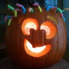 A cute jack-o-lantern idea!