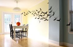 DYI. Easy & Cheap Halloween Bats- inside and out! #bats #cardstock #halloween #halloween_decor