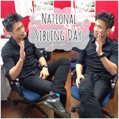 Today is National Sibling Day 4/10/14! Did you know our Project Coordinator was a Twin? His brother was camera shy and so we took two pictures of Ricky instead since they're identical :P