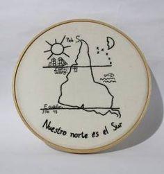 Cross Stitch Embroidery, Cross Stitch Patterns, Latina Tattoo, Arte Latina, Map Tattoos, Geniale Tattoos, Light In, Hand Embroidery Designs, Punch Needle