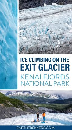 Ice climbing on the Exit Glacier in Kenai Fjords National Park, Alaska. Everything you need to know: when to go, what to bring, is it worth it, how hard is it, how long does it take, how much does it cost, and more. Kenai Fjords, Rappelling, Ice Climbing, Us National Parks, Great View, Alaska, Travel Destinations, Around The Worlds, United States