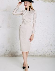simmone Dresses For Work, Fashion, Draping, Polka Dots, Full Sleeves, Skirts, Wedding, Moda, Fashion Styles