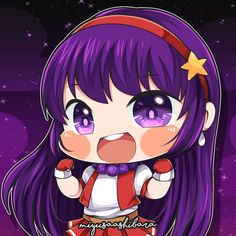 Athena Asamiya - King of Fighters . Raise your hand all Guinevere's user! Kawaii Chibi, Cute Chibi, Anime Chibi, Anime Art, Mobile Legend Wallpaper, 4k Wallpaper For Mobile, King Of Fighters, Animes Wallpapers, Cute Wallpapers