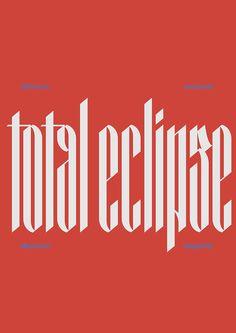 Studio io designs futuristic, Blackletter typeface Optimum Compress.