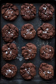 black chocOlate cookies with fleur de sel