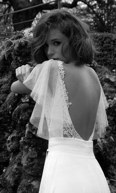 wedding dresses; sexy back