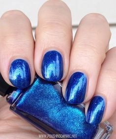 Sally Hansen Wavy Blue  - click thru to see the rest of my favorite blue polishes from 2013!