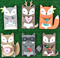 Sizzix Thinlits Die Set - Card, Fox Label Fold-a-Long Woodland Critters, Woodland Animals, Diy For Kids, Crafts For Kids, Lawn Fawn Blog, Diy And Crafts, Paper Crafts, Lawn Fawn Stamps, Woodland Party