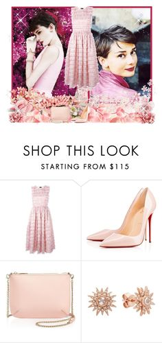 """""""Audrey Hepburn ♥♥♥"""" by asia-12 ❤ liked on Polyvore featuring MARCOBOLOGNA, Christian Louboutin, Ted Baker and Kenza Lee"""
