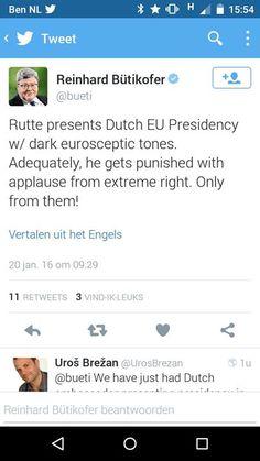 Alleen extreem rechts applaudisseert voor Rutte in EP  Presentatie NL EU voorzitterschap Rutte in Europees Parlement valt goed bij extreem rechts.