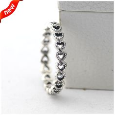 Fits European Jewelry Linked Love Silver Rings New 100% 925 Sterling Silver Jewelry DIY Wholesale 09R075