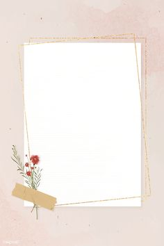 Blank rectangle gold frame on pink background template vector Framed Wallpaper, Flower Background Wallpaper, Flower Backgrounds, Iphone Wallpaper, Iphone Backgrounds, Paper Background, Collage Foto, Instagram Frame Template, Photographie Portrait Inspiration