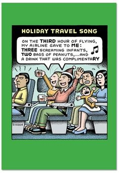 Holiday Travel Song Christmas Paper Card By Nobleworks Christmas Paper, Christmas Humor, Travel Songs, Honeymoon Tips, Laugh Till You Cry, Laughter The Best Medicine, School Humor, Funny School, Holiday Travel