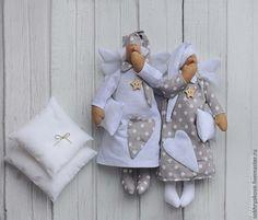 Купить Сонные ангелы. - тильда, сонный ангел, сплюшка, Новый Год, спальня, хлопок, холлофайбер