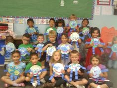 """To celebrate Earth Day in kindergarten, we made """"Mr. Earth""""."""