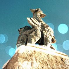 Pueblo Picture a Day: Looking Towards the New Year - Our gargoyle mascot guarding the park.