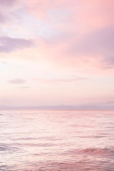 Ocean Sunset Print | Ocean Photography | Pink Clouds | Sunset Wall Art | Blush Pink Beach | Pastel O