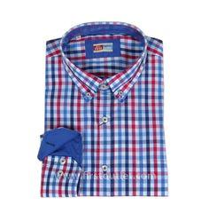 Camisa Cuadro Vichy Combinado, Primavera/Verano 2015